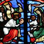 Vitraux de la Chapelle Saint-Alpin - Priere Adoration mages