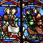 Vitraux de la Chapelle Saint-Alpin au Foyer de Charité de Baye