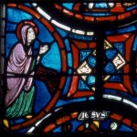 Vitrail saint Alpin Baye Jésus et Marie-Madeleine