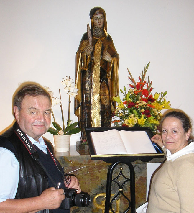 Claude et Marie-France Delpech, organisateurs de l'Université d'Eté Ste Hildegarde