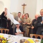 Engagement de Colette au Foyer de Charité de Baye, après la Messe