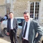Engagement de Colette au Foyer de Charité de Baye, famille et invités