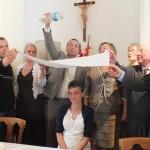 Engagement de Colette au Foyer de Charité de Baye, Vivat
