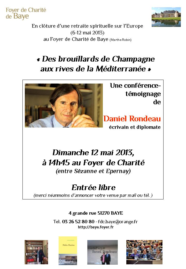 ConferenceDanielRondeauFdcBaye
