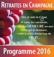 Téléchargez le programme 2016 des retraites spirituelles au Foyer de Charité de Baye