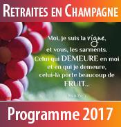 Téléchargez le programme 2017 des retraites spirituelles au Foyer de Charité de Baye